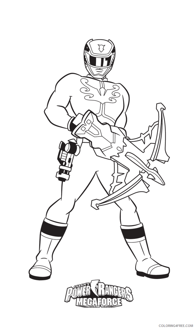 Power Ranger Coloring Pages Megaforce Red Ranger Coloring4free -  Coloring Home