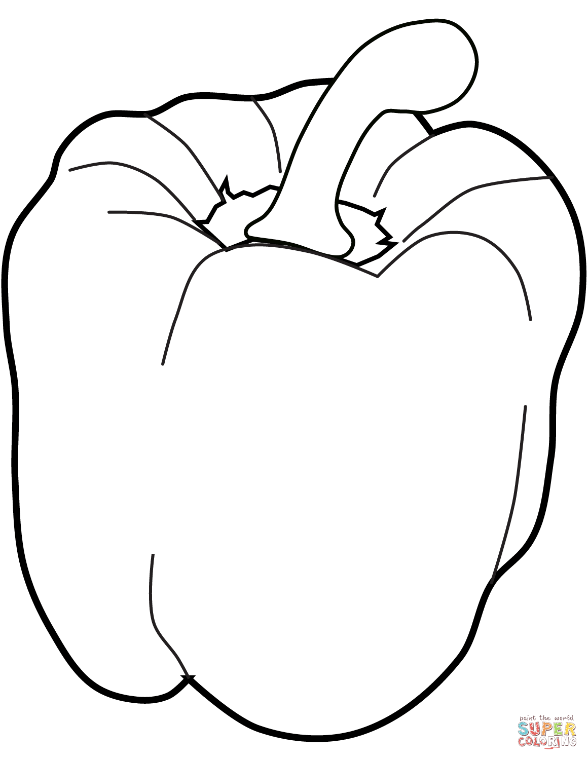 Sweet Pepper coloring page | Free Printable Coloring Pages | Vegetable coloring  pages, Coloring pages, Food coloring pages