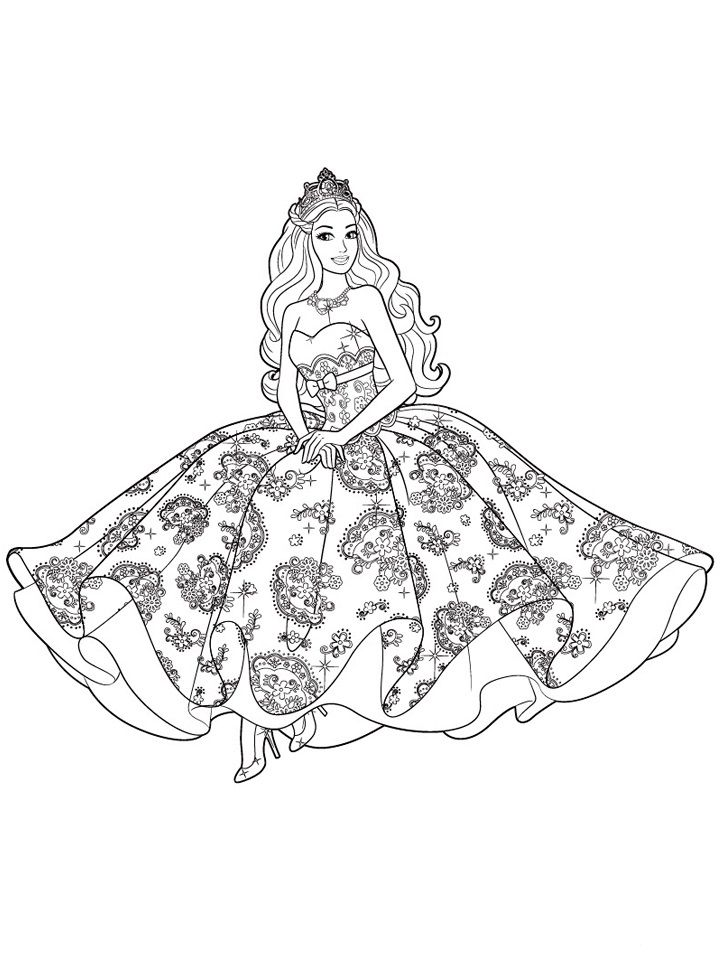 Barbie Doll Barbie Princess Coloring Pages - Coloring Home
