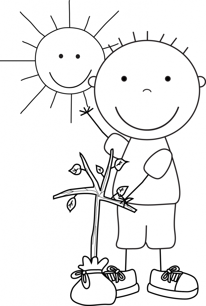 Earth Day Pictures For Kids Coloring