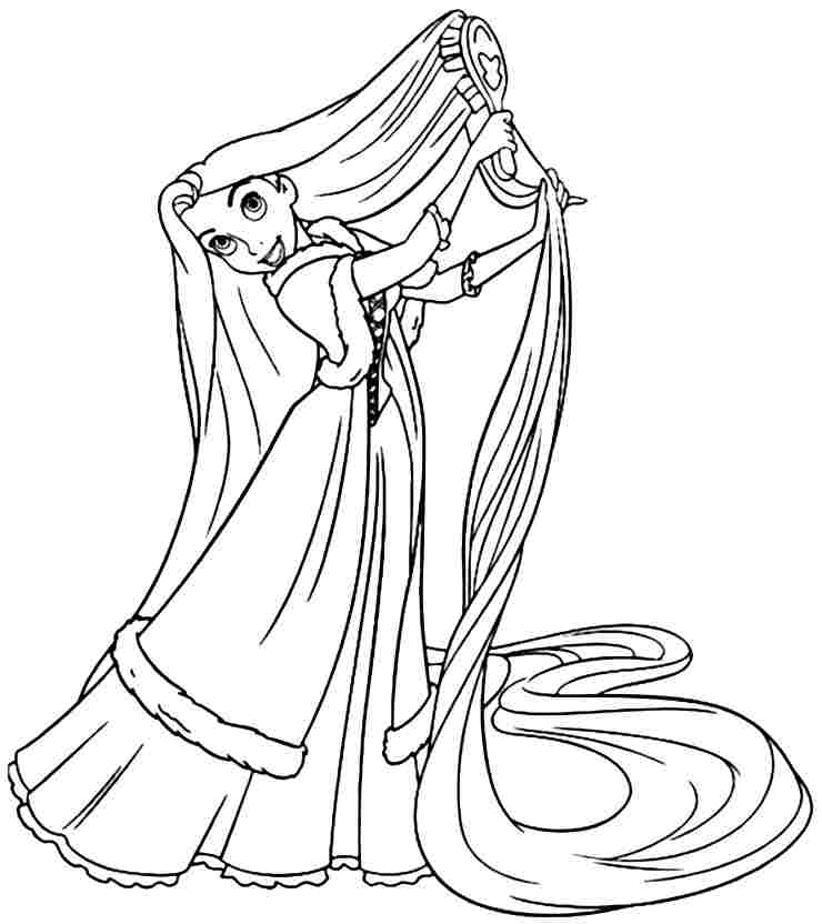 Princess Rapunzel Coloring Pages Face - AZ Coloring Pages