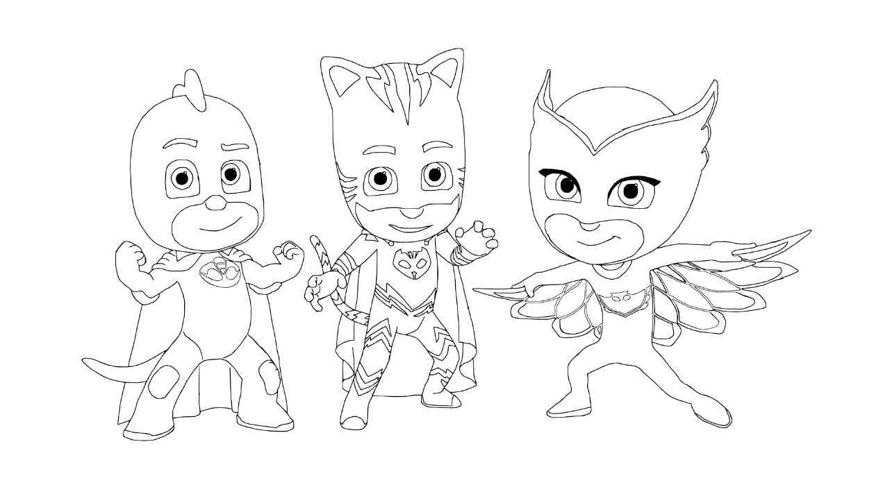 Pj masks coloring pages coloring home for Pjmask da colorare