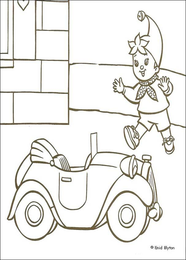 noddy coloring pages baby at bedtime