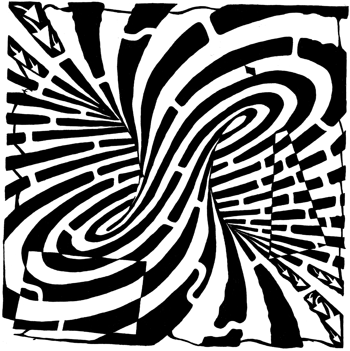 free visual illusions coloring pages-#31