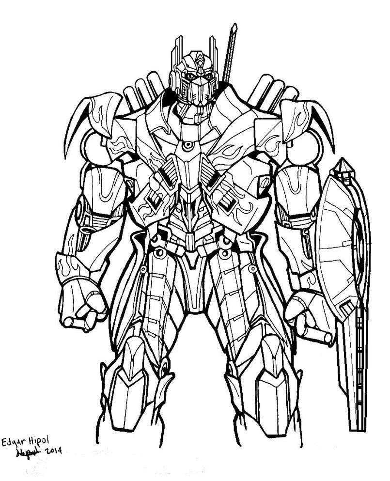 6 Pics Of Transformers Optimus Prime Coloring Pages Optimus