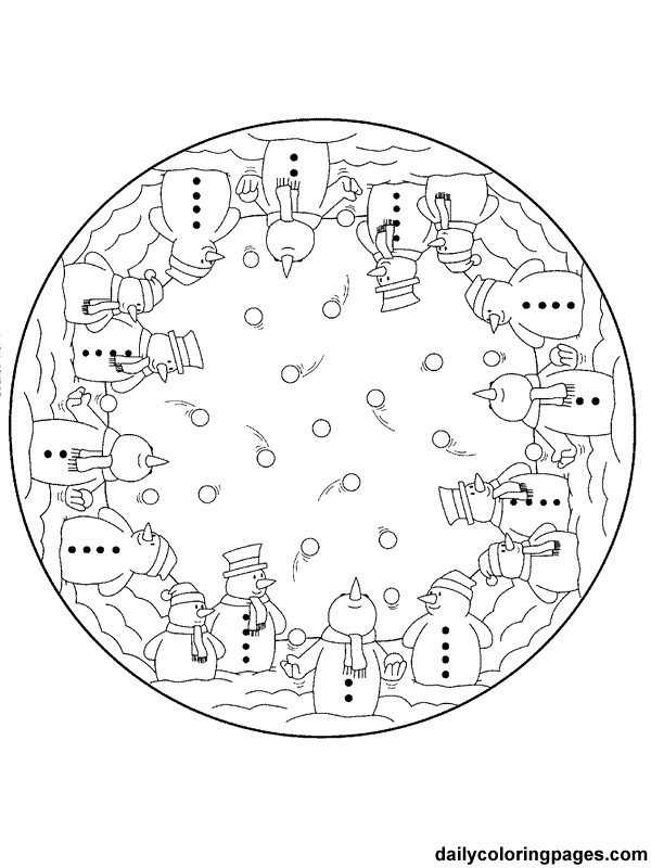 Christmas Mandala - Coloring Pages for Kids and for Adults