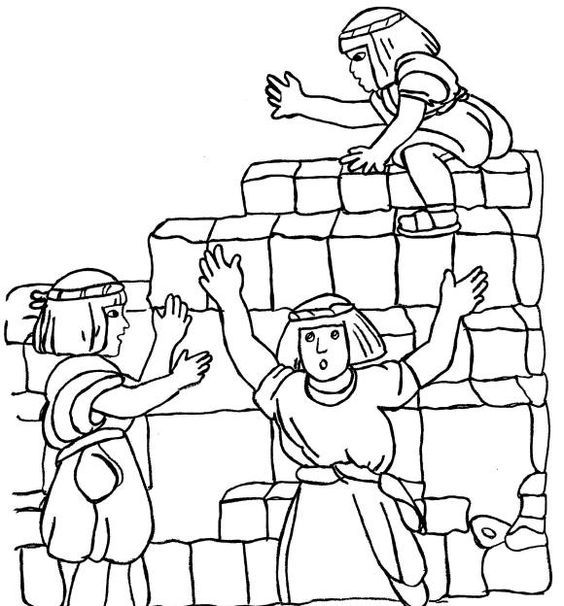 Tower Of Babel Coloring Sheet | Free Coloring Pages | Pinterest ...