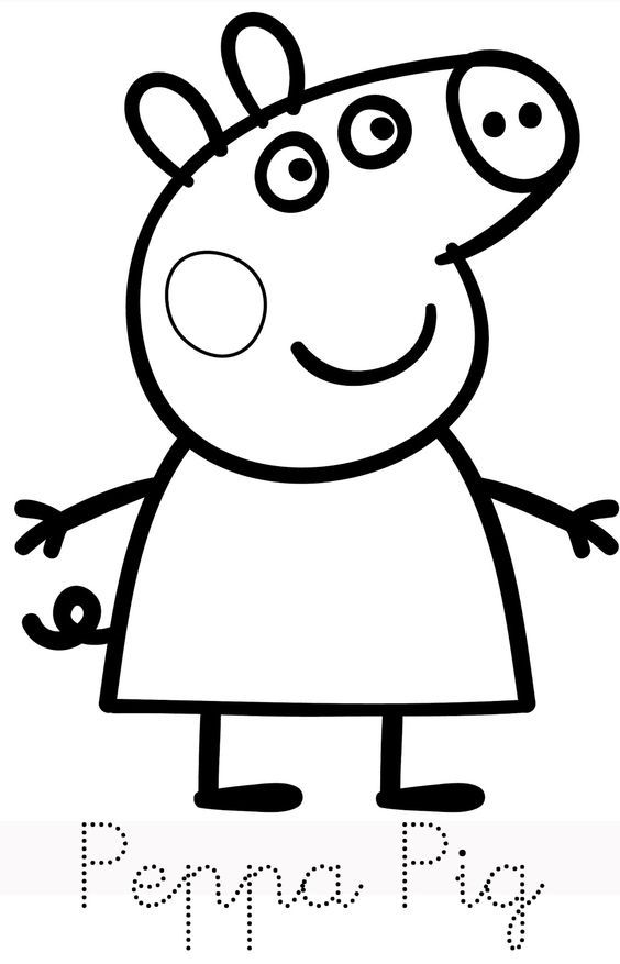 Peppa pig cake template peppa pig coloring pages leth for Peppa pig coloring pages pdf