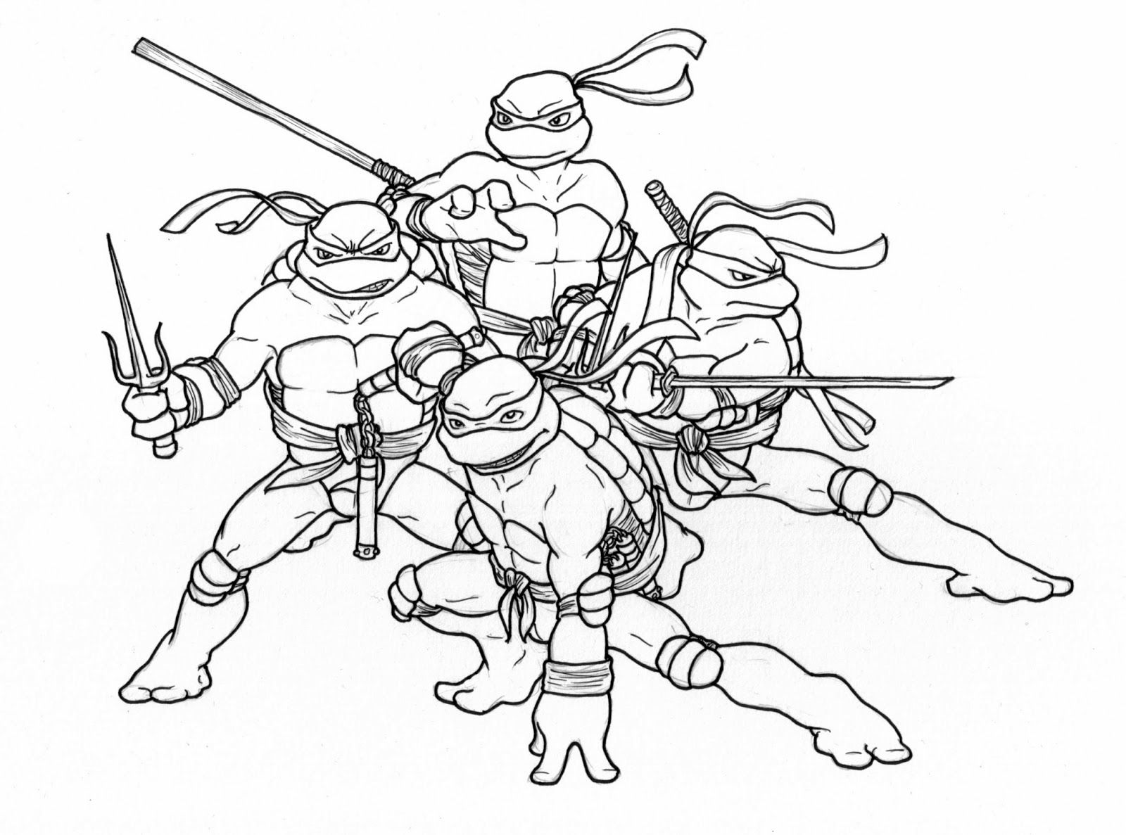 Line Art Ninja Turtles : Teenage mutant ninja turtle coloring page home