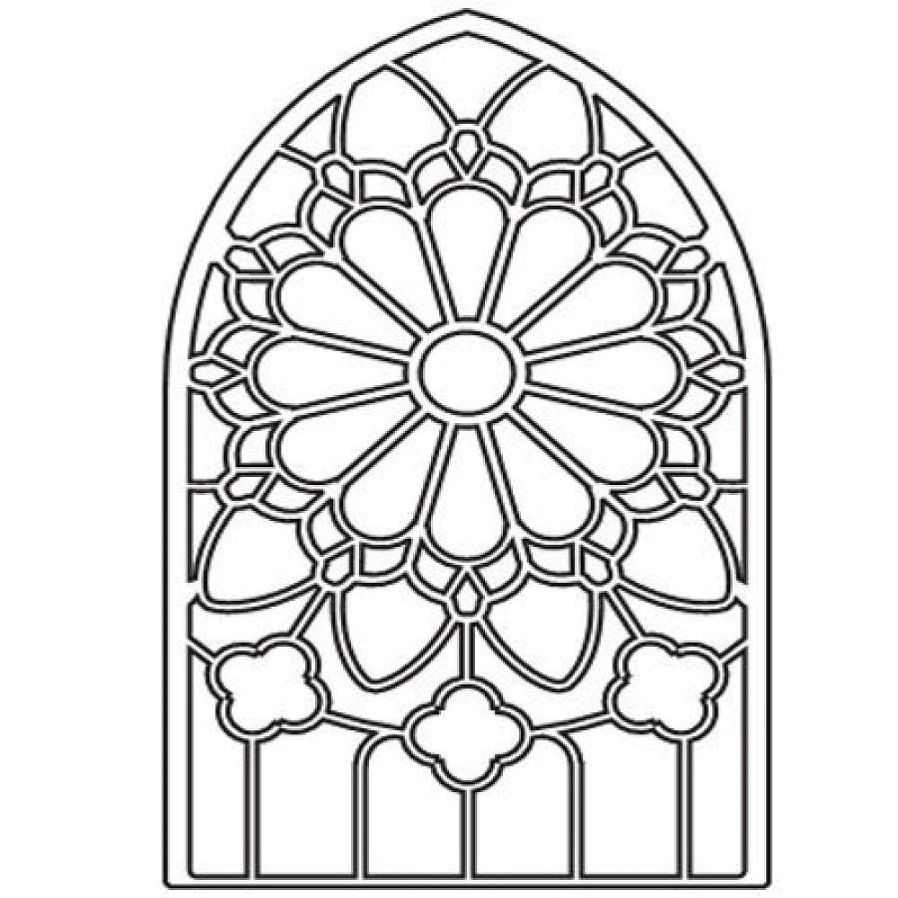 Free printable stained glass window coloring pages for Pages for windows