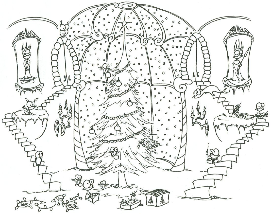 christmas scene coloring pages printable coloring pages for all ages