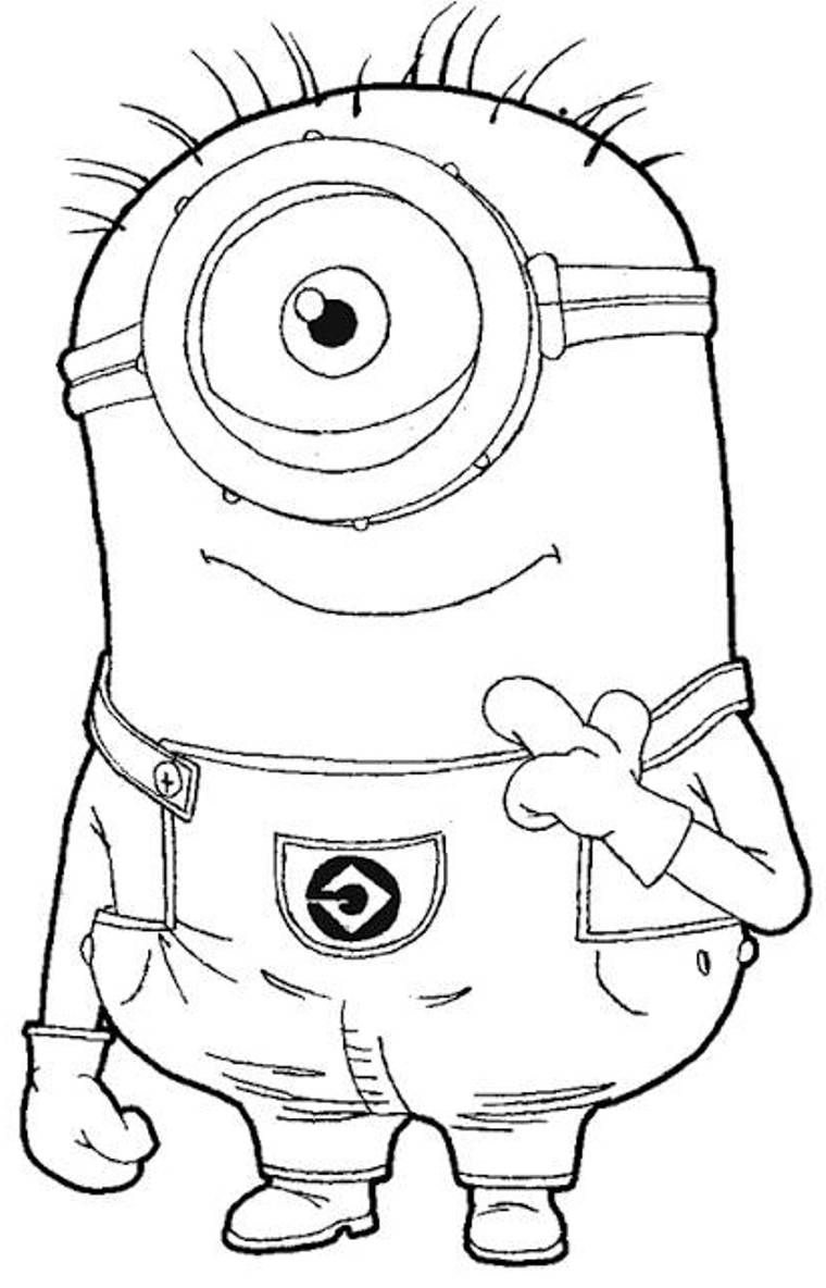 Amazing Of Awesome Minion Kevin Coloring Page For Minio #677