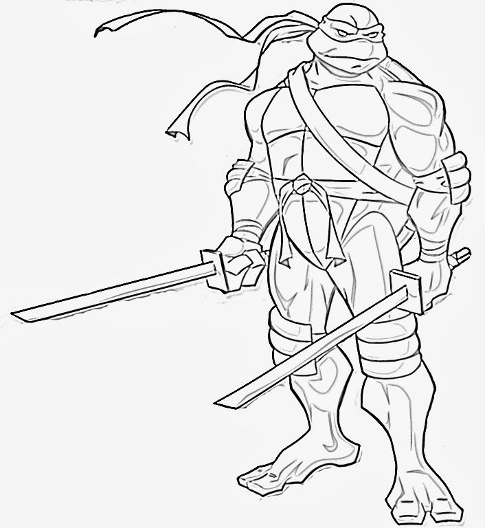 Teenage Mutant Ninja Turtle Coloring Book
