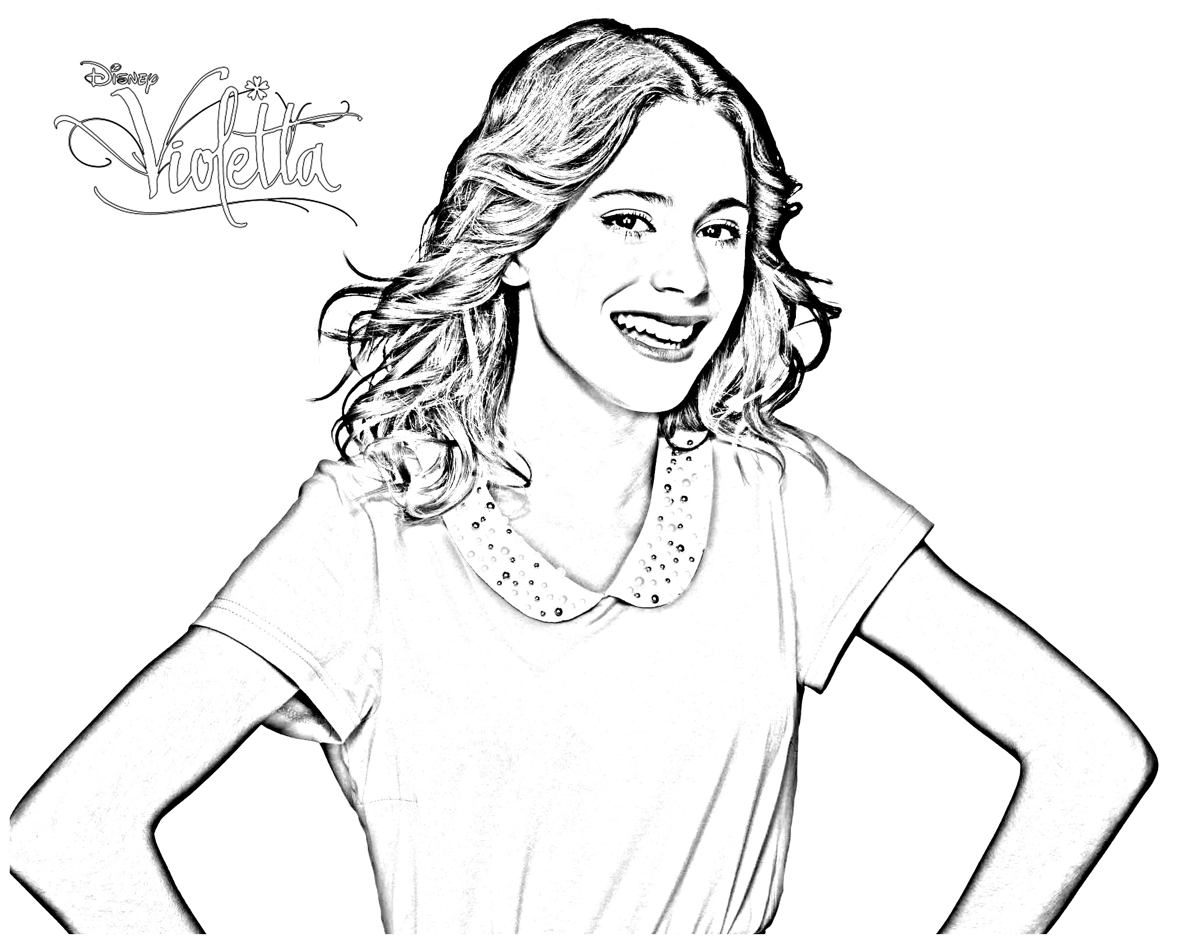 Violetta Coloring Pages Coloring Home
