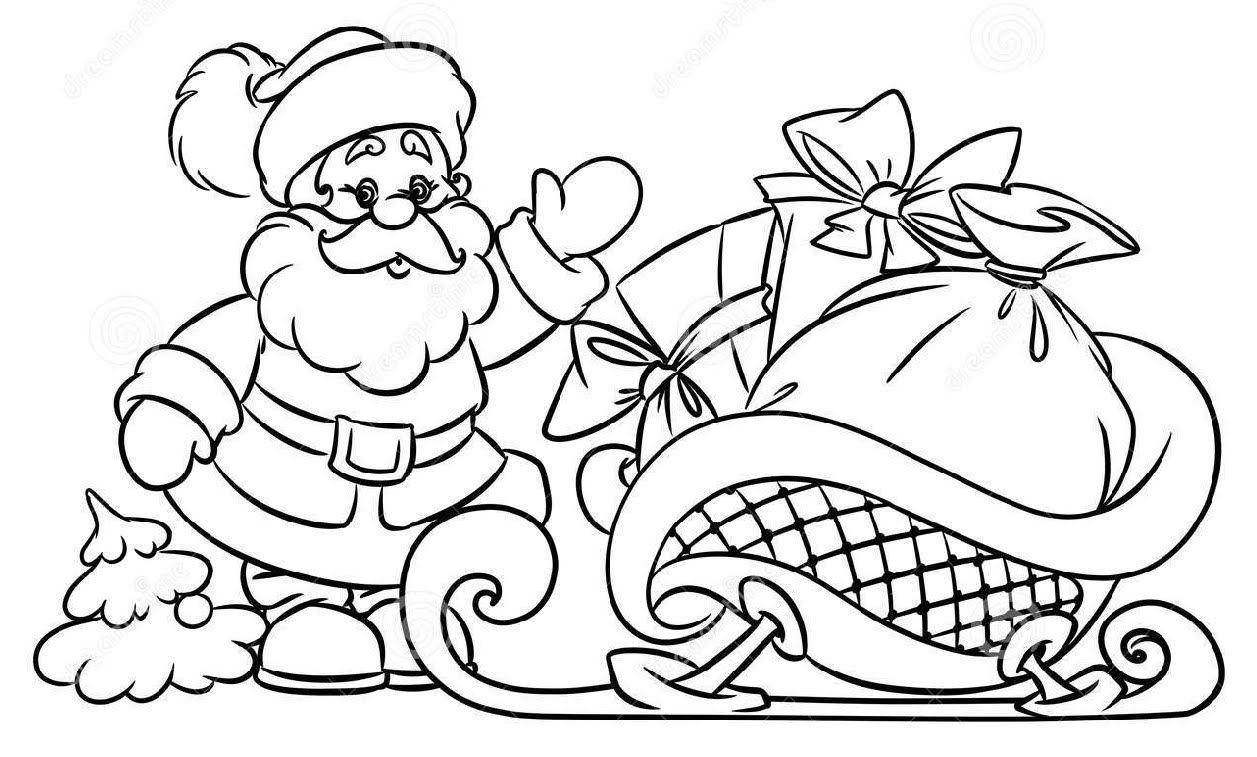 santa claus sketch coloring home
