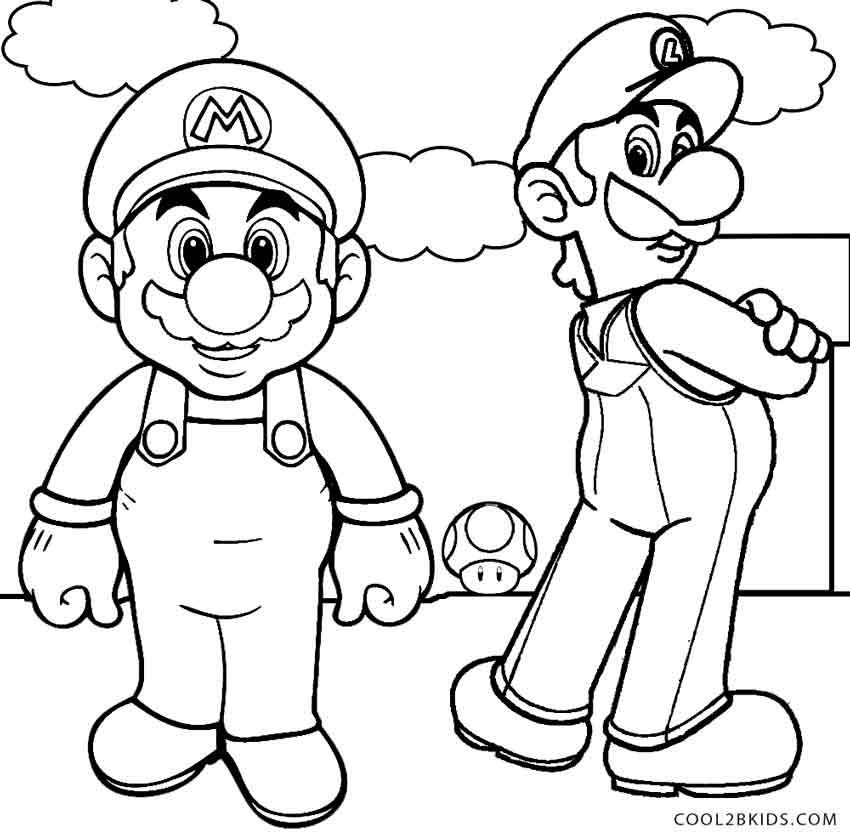 Mario And Luigi Coloring Page
