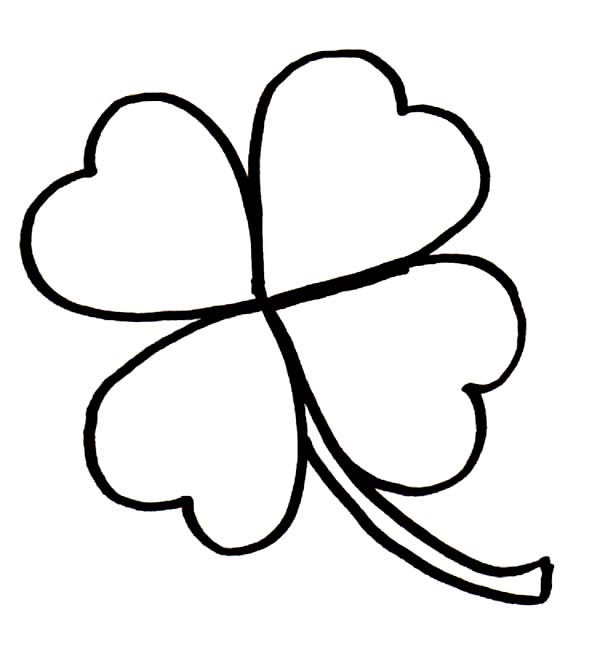 four leaf clover coloring page auromascom
