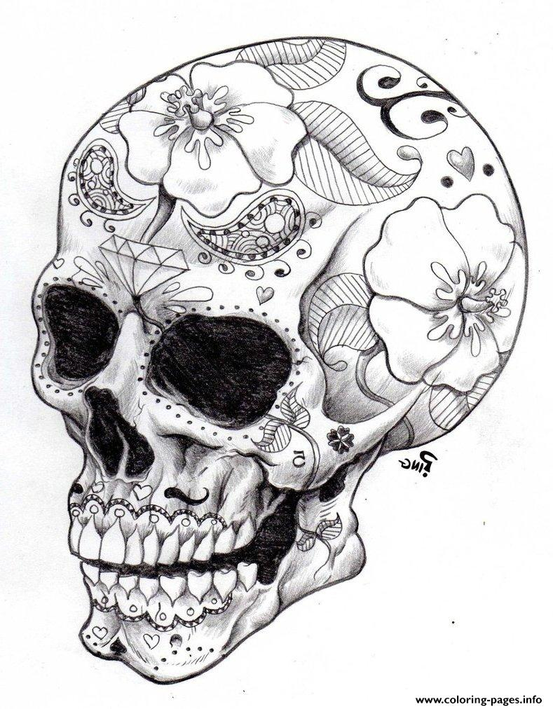 Adult Coloring Pages, Skulls - Coloring Home