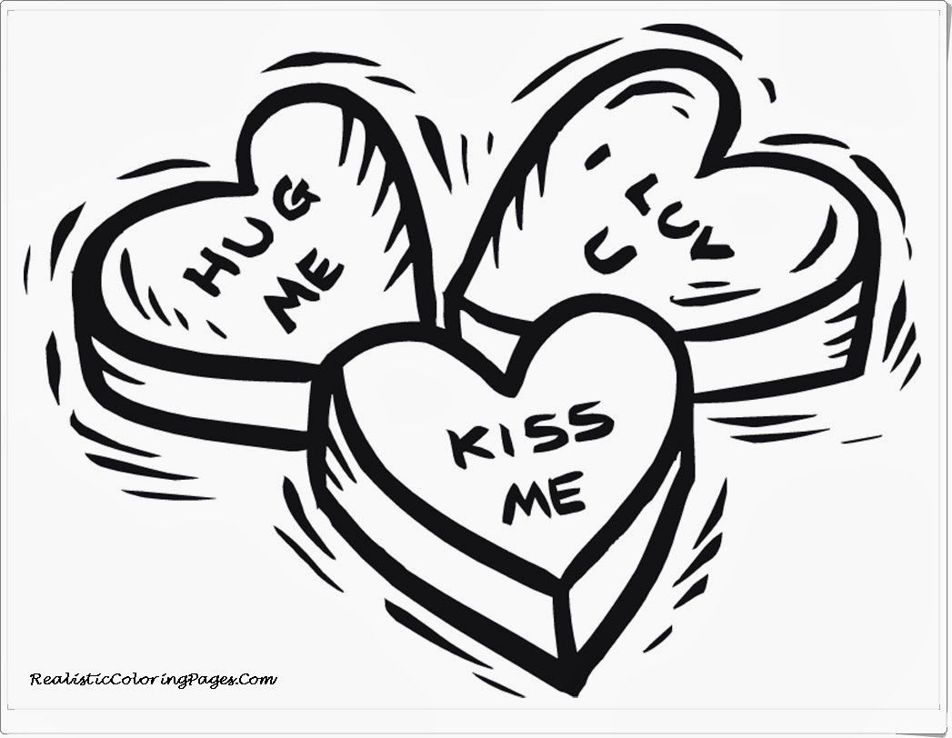 Valentines Day Heart Coloring Page  Coloring Home