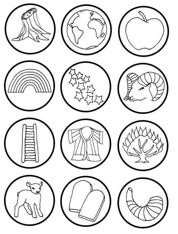 jesse tree symbols coloring page