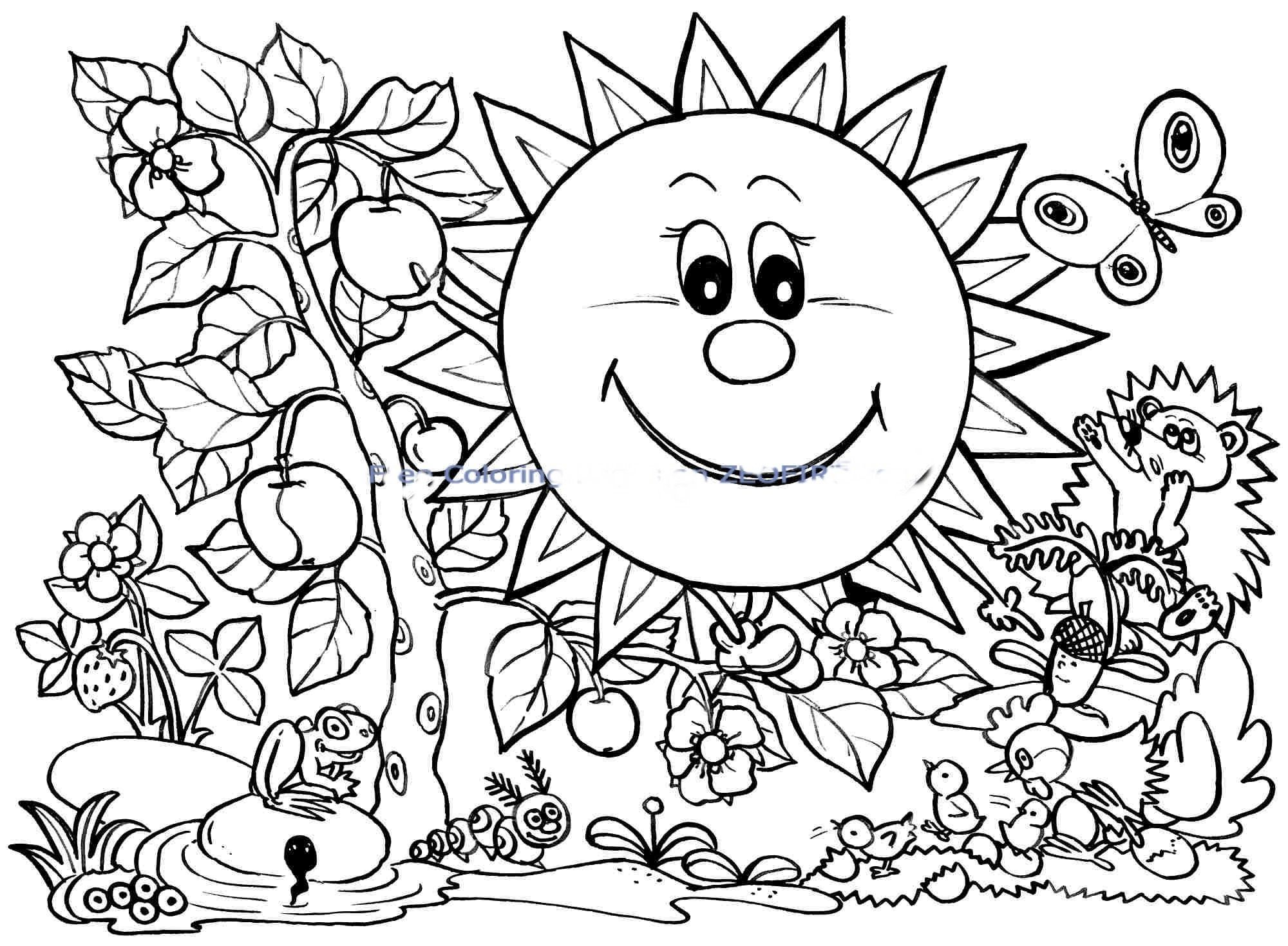 coloring pages for spring break gallery