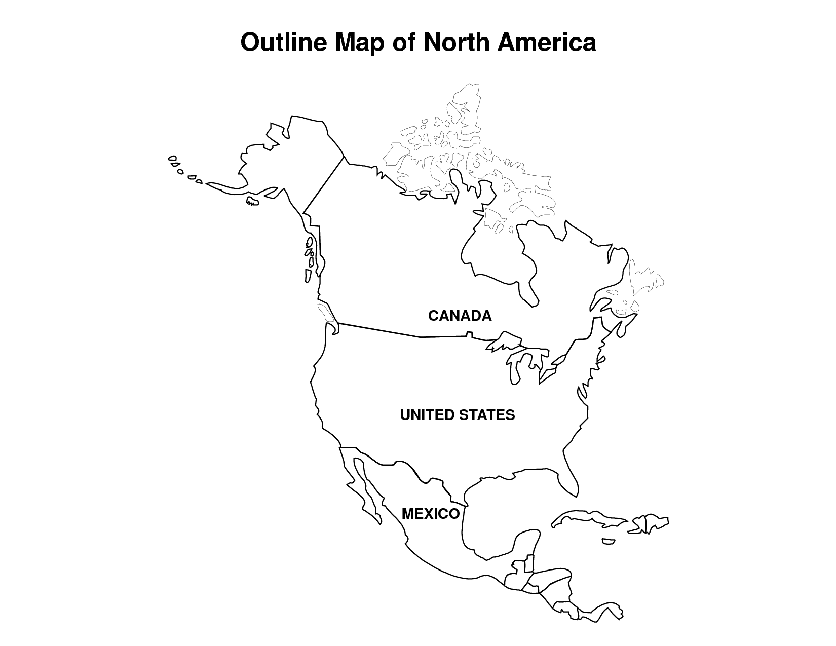 North America Coloring Page Coloring Home - Map of usa coloring pages