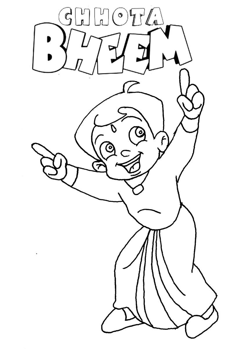 Chota Bheem Colouring Games Free - High Quality Coloring Pages