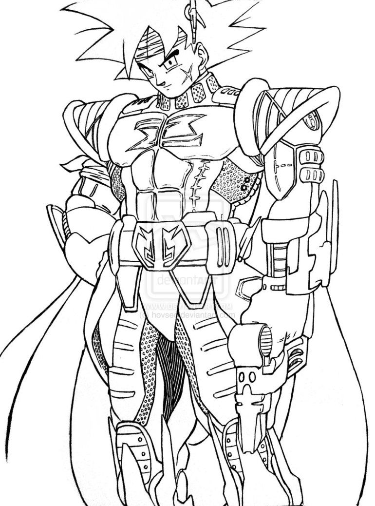 Bardock coloring pages coloring home - Dessin dragon ball z kai ...