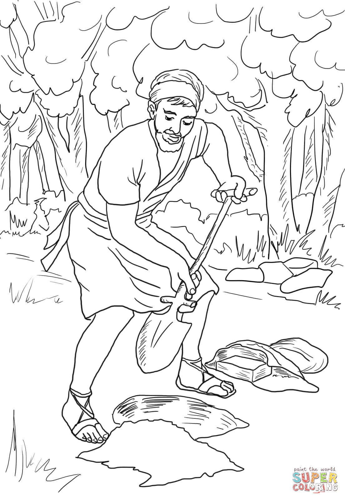 Parable of the Talents coloring page | Free Printable Coloring Pages