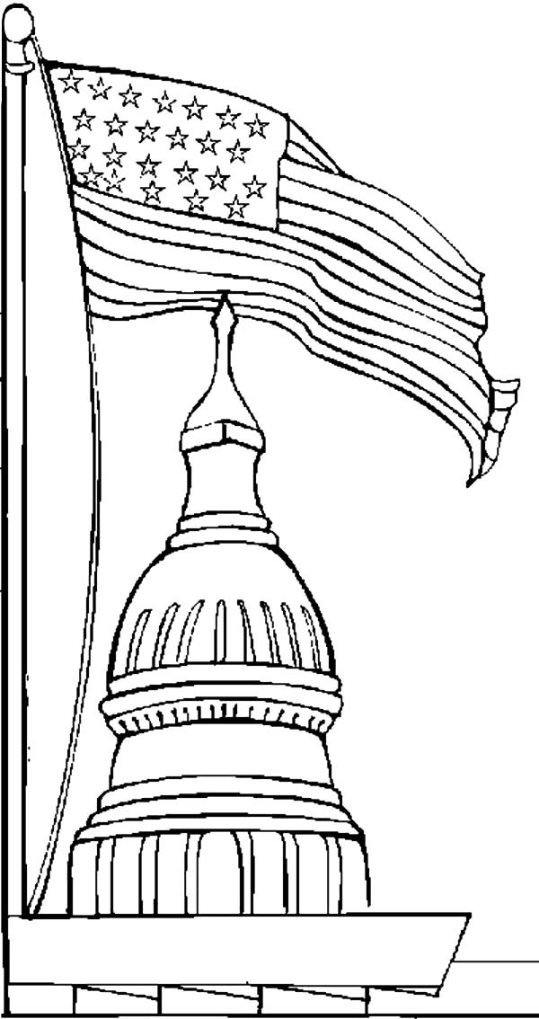 Coloring pages of the white house coloring home for The white house coloring page
