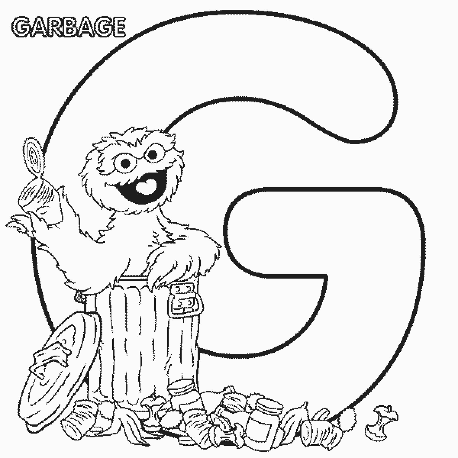 G alphabet coloring pages - Sesame Street Coloring Pages Alphabet