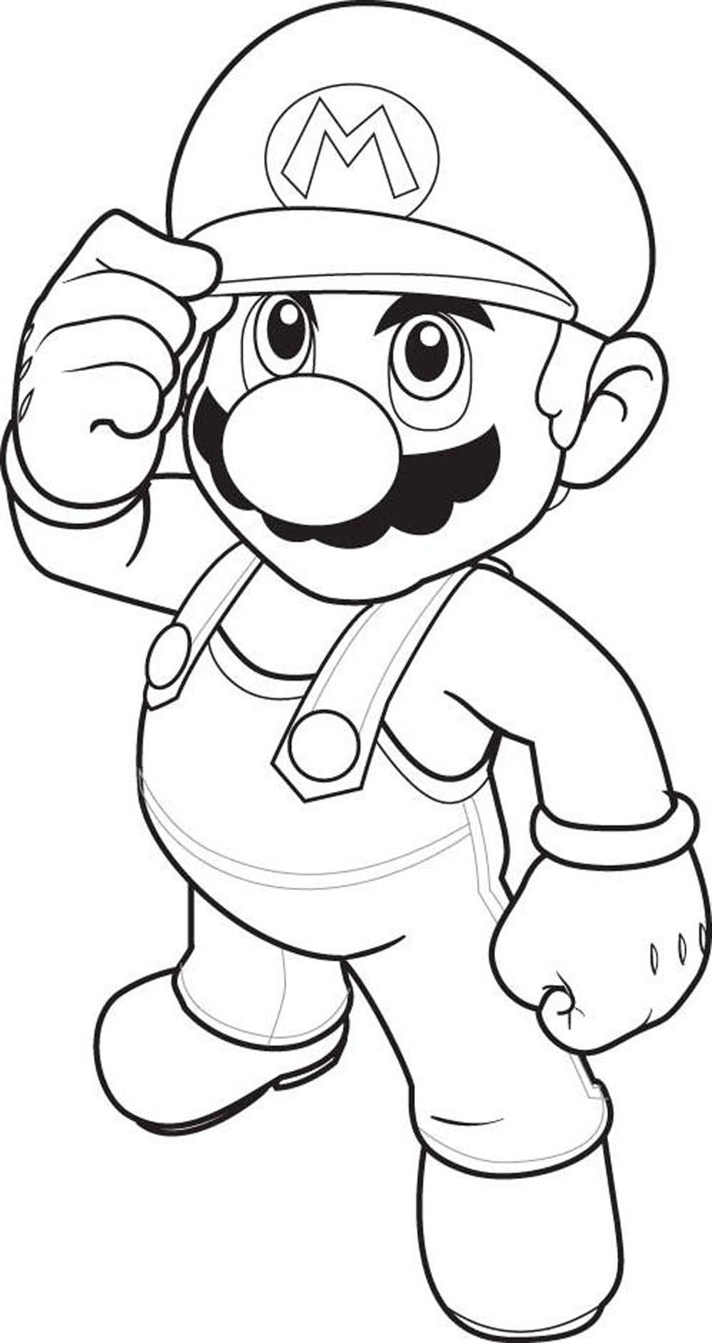 All mario character coloring pages coloring home for Mario color page