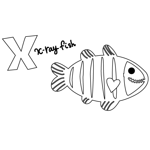 x is for x ray coloring pages - photo #14