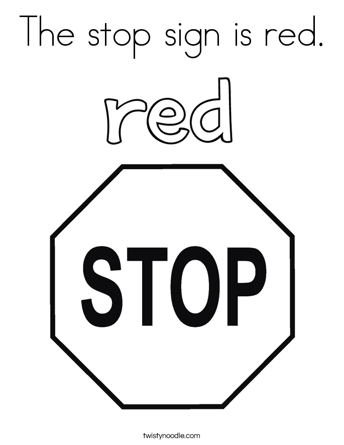 Stop Sign Coloring Pages - AZ Coloring Pages