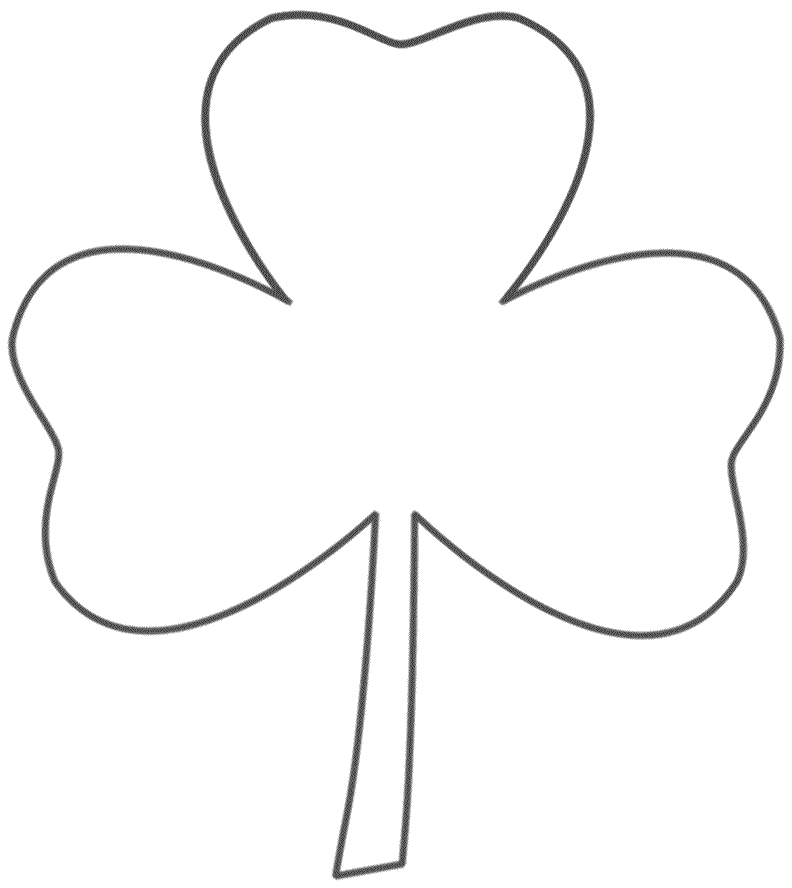 Three Leaf Clover Coloring Page St Patricks Day Coloring Home