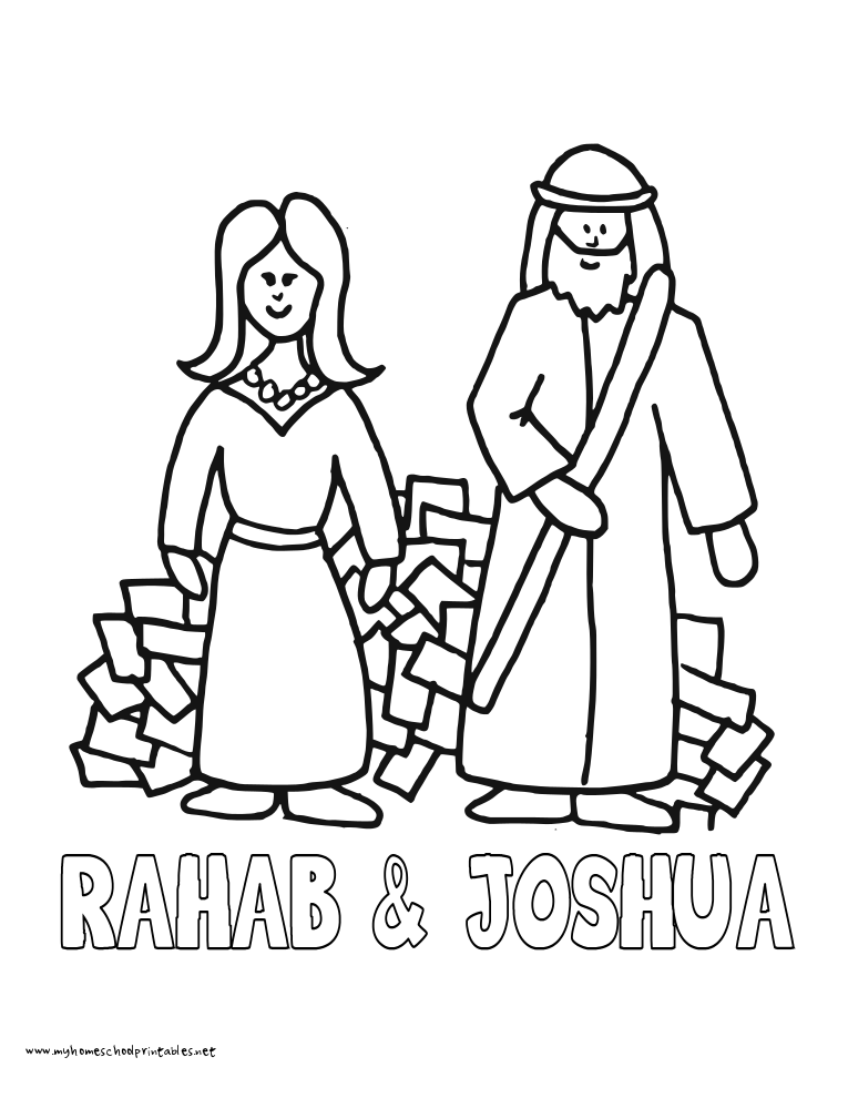 Joshua Rahab Coloring Pages - High Quality Coloring Pages ...
