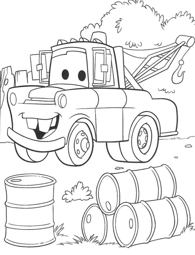 Coloring Pages Cars Pdf : Cars coloring pages pdf home