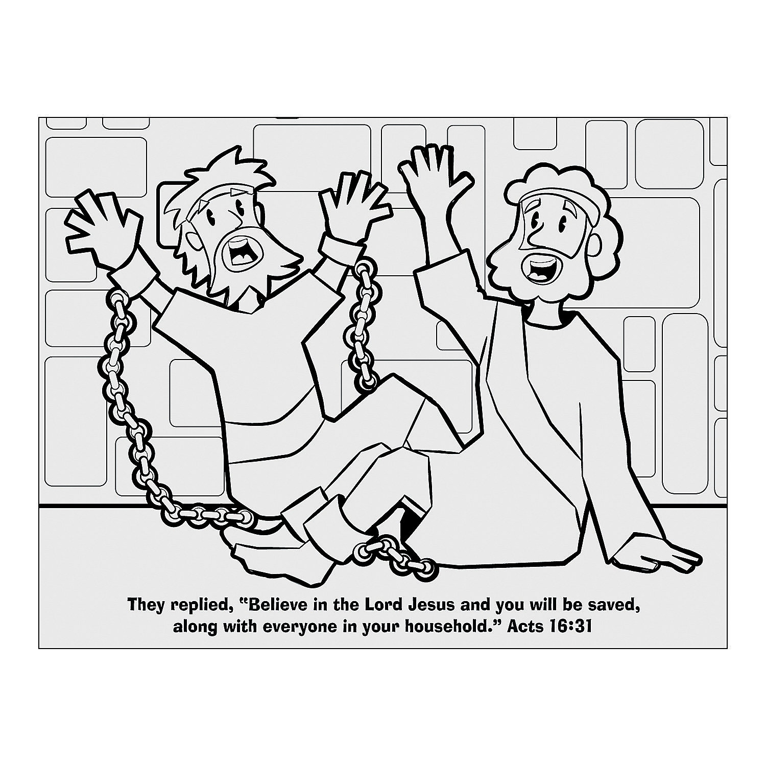 the philippian jailer coloring pages - photo#7