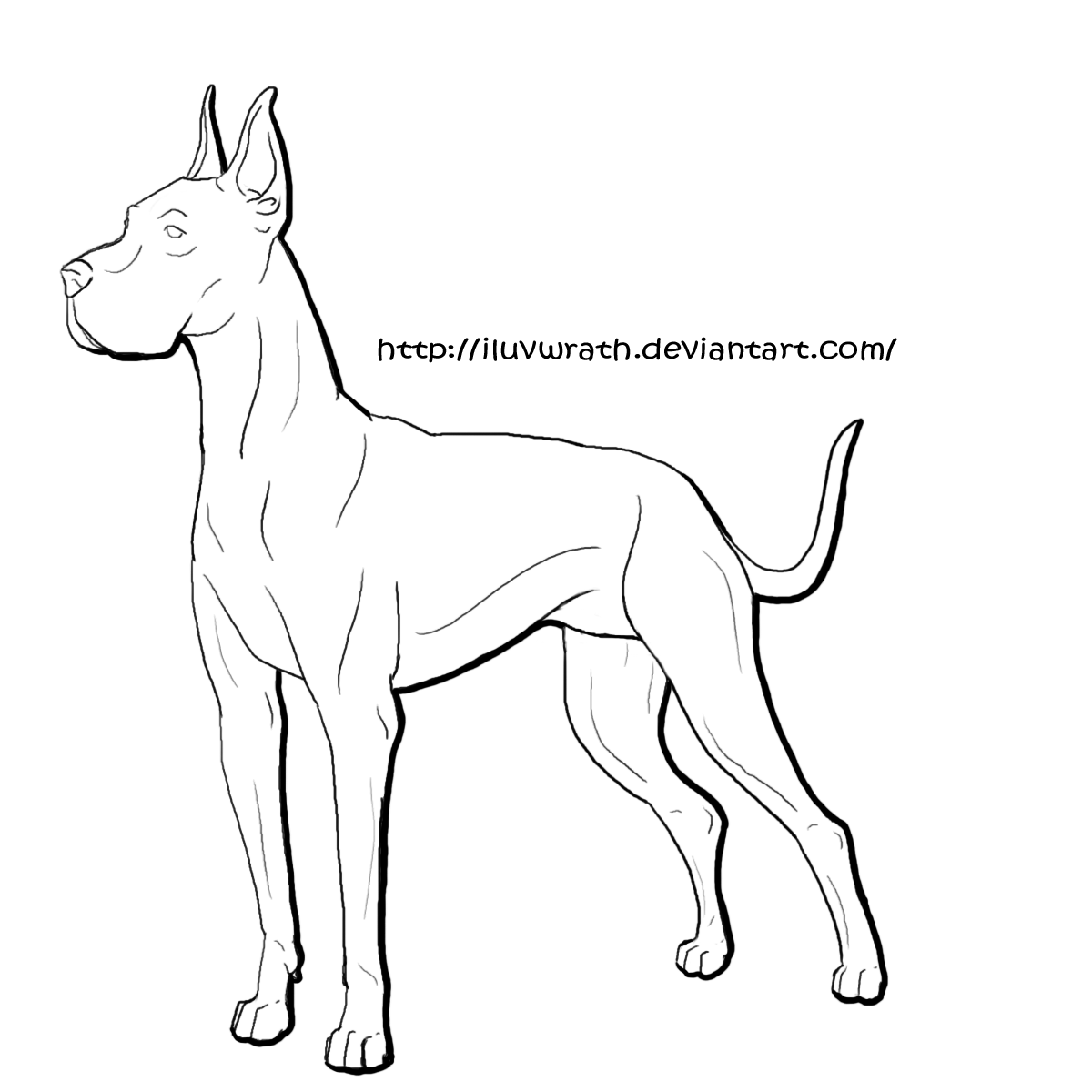Great dane dog coloring pages coloring home for Great dane coloring pages