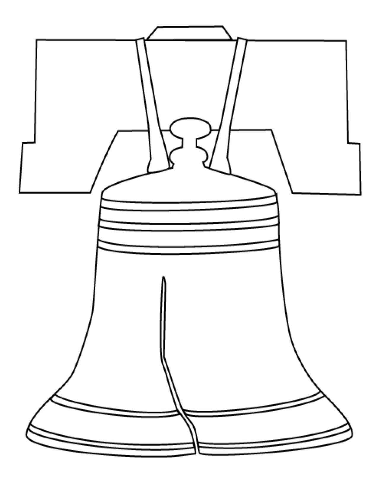 liberty bell coloring page coloring home