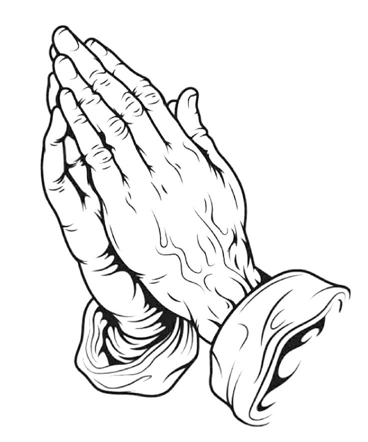 Printable Praying Hands Coloring Page - Coloring Home