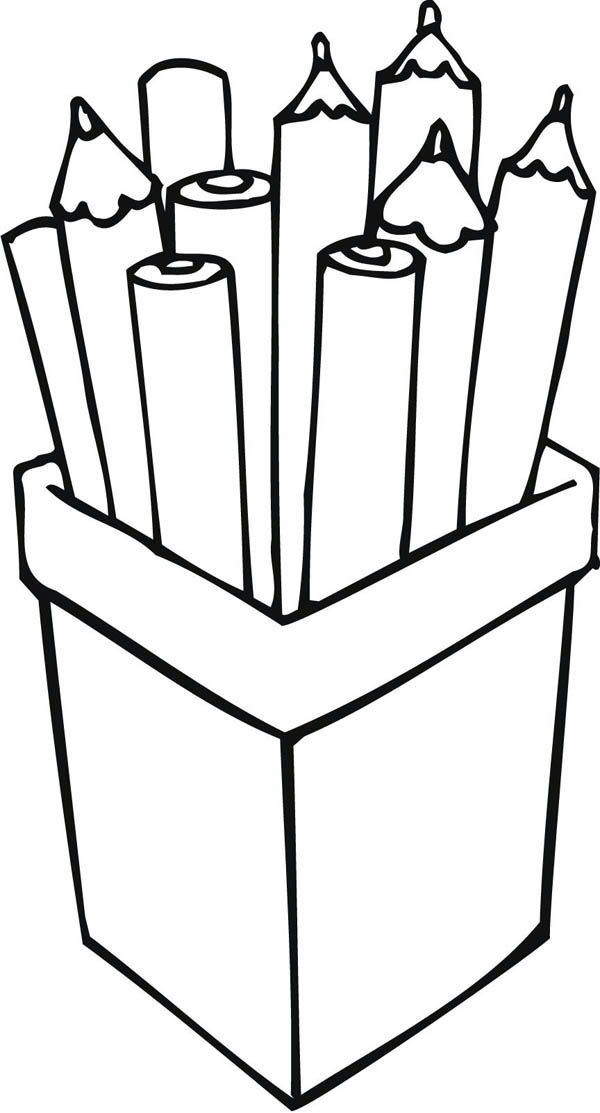 Pencils Coloring Page Coloring Home