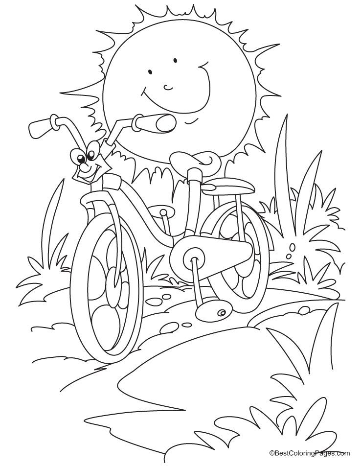 9 Pics Of Cycling Coloring Pages