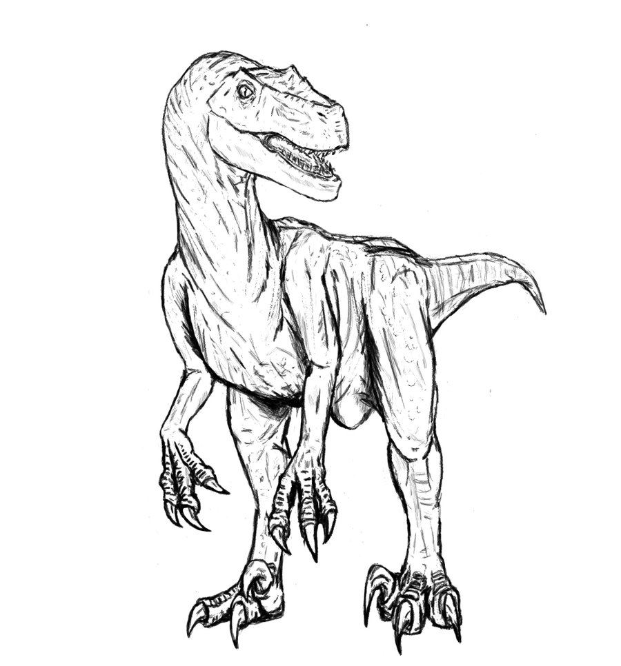 beautiful coloring page with realistic dinosaur coloring pages