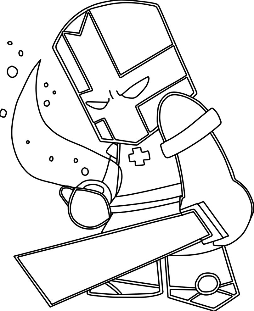 Brute Castle Crashers Coloring Pages Coloring Pages