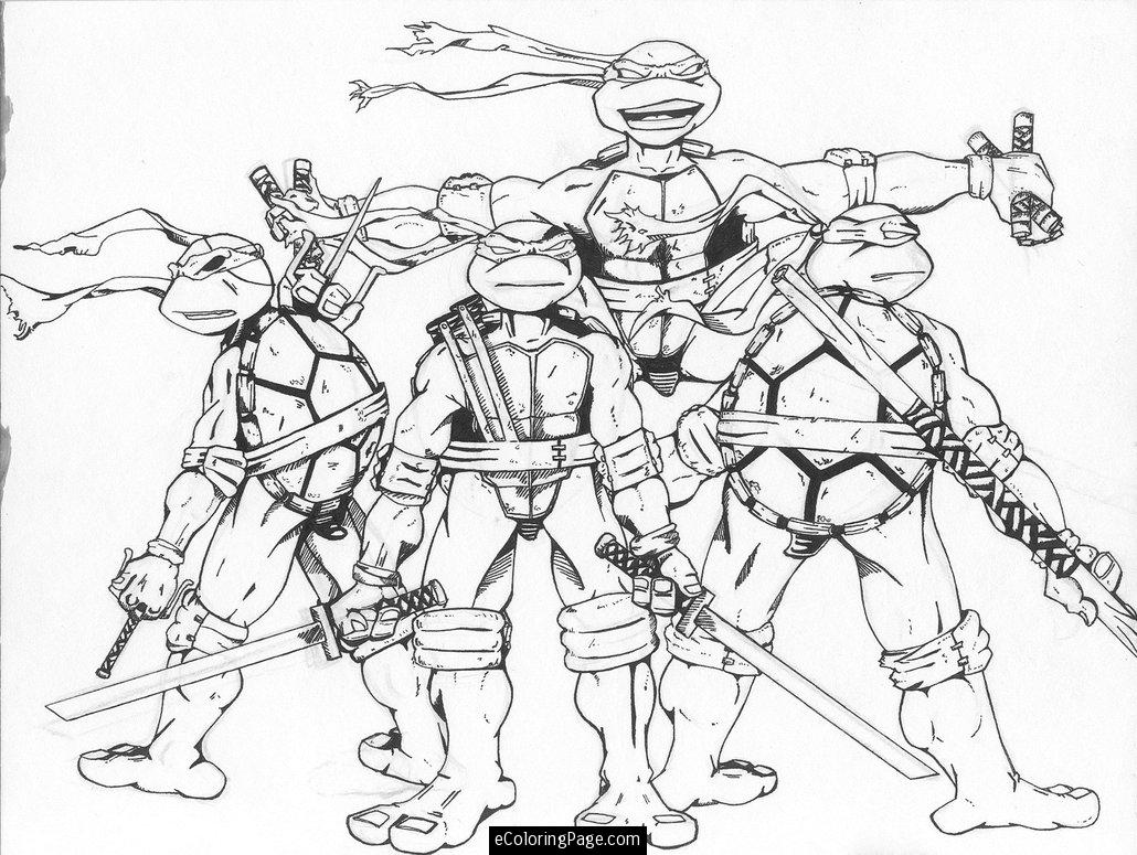 Christmas Ninja Turtles Coloring Pages - Coloring Home