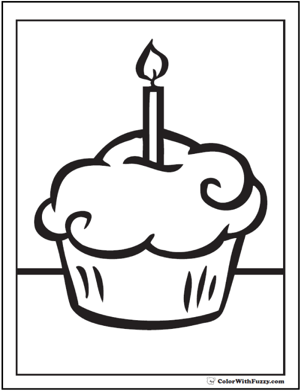 Cupcake Coloring Pages For Kids And For Adults Coloring Home
