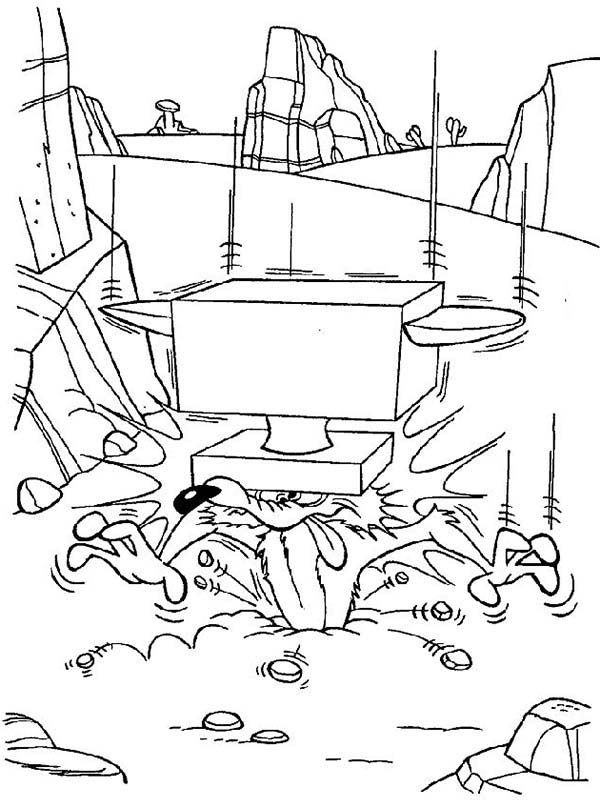 Wile E Coyote And Roadrunner Coloring Pages