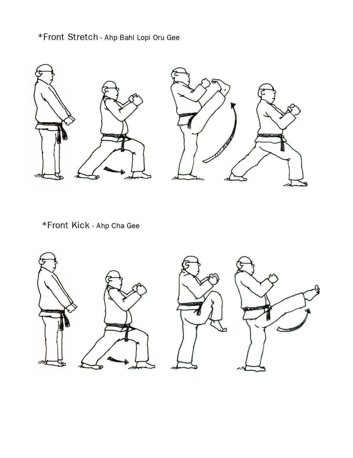 Taekwondo Coloring Page