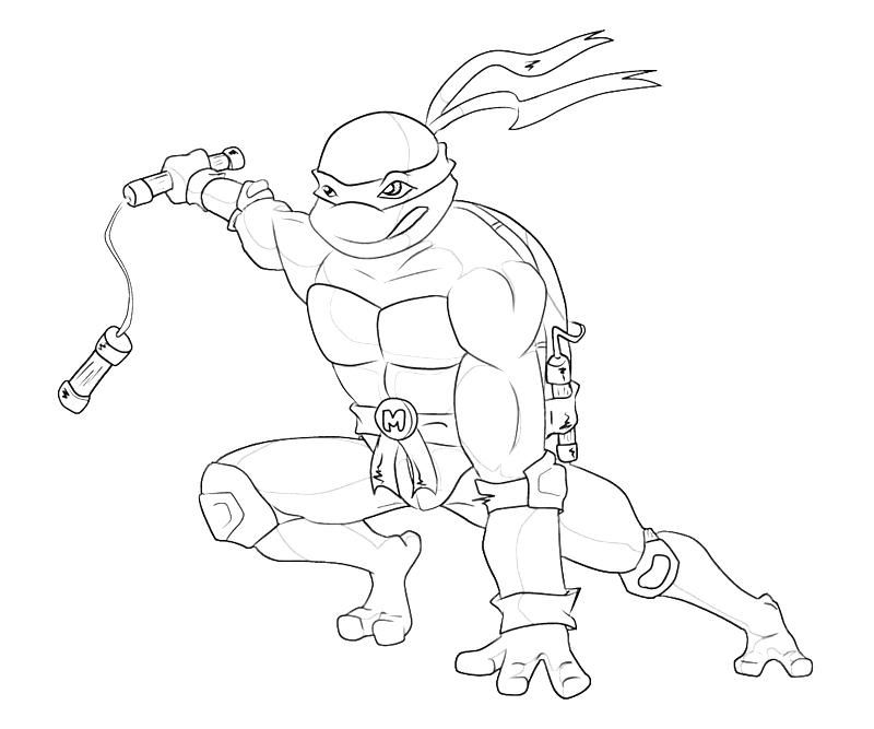Teenage Mutant Ninja Turtle Coloring Page - Coloring Home